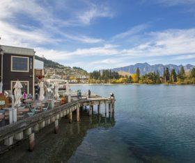 Autumn scenery of Queenstown New Zealand Stock Photo 05
