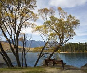 Autumn scenery of Queenstown New Zealand Stock Photo 07