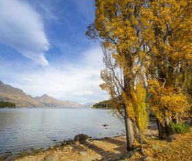 Autumn scenery of Queenstown New Zealand Stock Photo 08