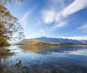 Autumn scenery of Queenstown New Zealand Stock Photo 09