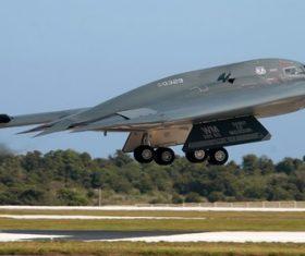 B-2 stealth bomber Stock Photo