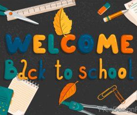 Back to school cartoon styles design vector 01