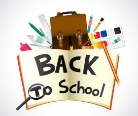 Back to school design with white background vector 02