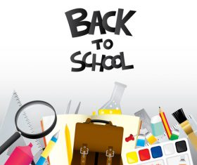 Back to school design with white background vector 03