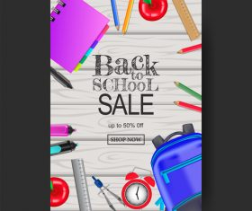 Back to school poster template vector material 01