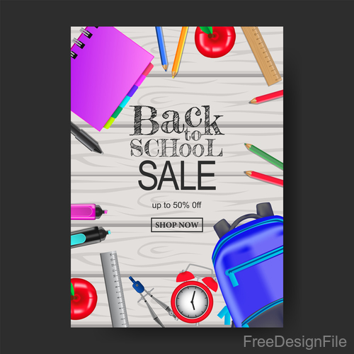 Back To School Poster Template Vector Material 01 Free Download