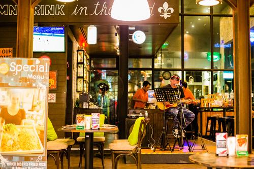 Bangkok Thailand street night market scenery Stock Photo 01