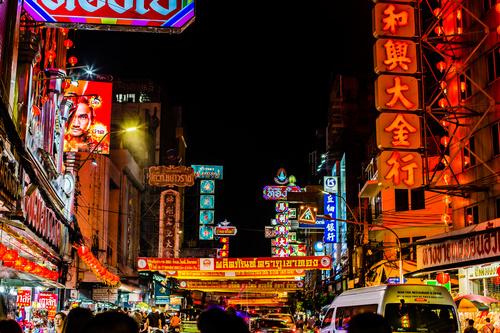 Bangkok Thailand street night market scenery Stock Photo 05