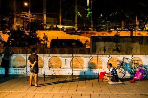 Bangkok Thailand street night market scenery Stock Photo 06