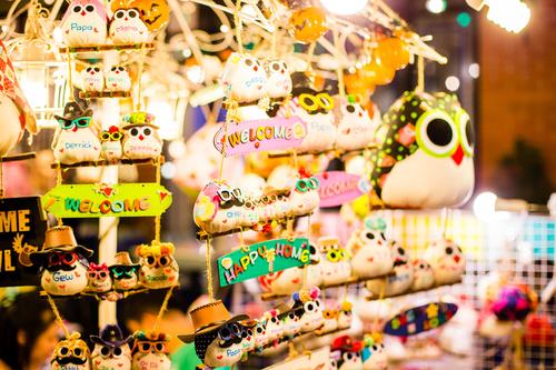 Bangkok Thailand street night market scenery Stock Photo 07
