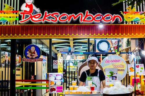 Bangkok night market snacks in Bangkok Thailand 03