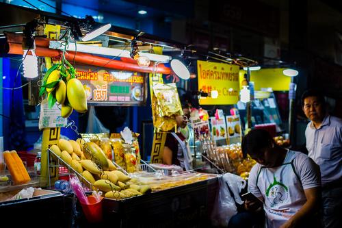 Bangkok night market snacks in Bangkok Thailand 04
