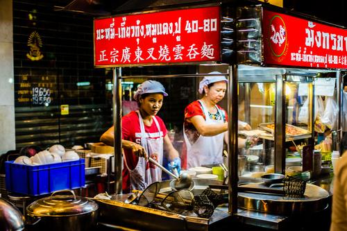 Bangkok night market snacks in Bangkok Thailand 05