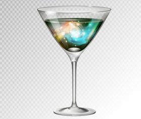 Beautiful cocktail with glass cup vectors 03