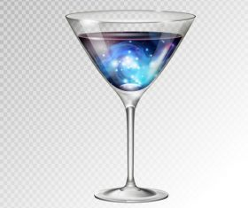 Beautiful cocktail with glass cup vectors 05