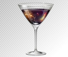 Beautiful cocktail with glass cup vectors 08