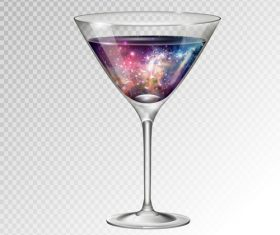 Beautiful cocktail with glass cup vectors 09