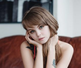 Beautiful russian girl Stock Photo