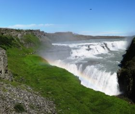 Beautiful view of Gullfoss Iceland Stock Photo 01