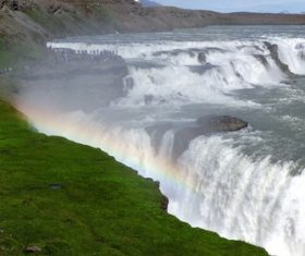 Beautiful view of Gullfoss Iceland Stock Photo 02