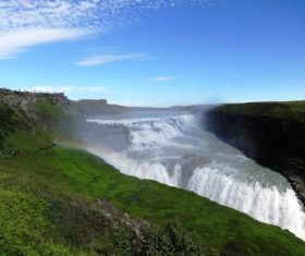 Beautiful view of Gullfoss Iceland Stock Photo 03
