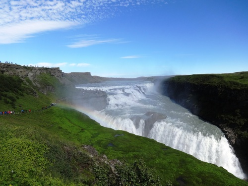 Beautiful view of Gullfoss Iceland Stock Photo 03