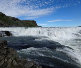 Beautiful view of Gullfoss Iceland Stock Photo 04
