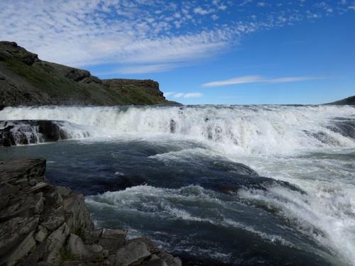 Beautiful view of Gullfoss Iceland Stock Photo 04