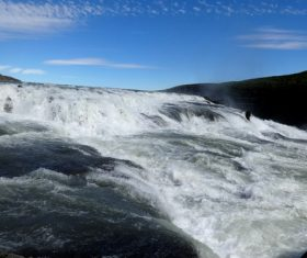 Beautiful view of Gullfoss Iceland Stock Photo 06