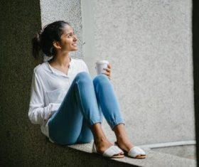 Beautiful woman wearing jeans Stock Photo 01