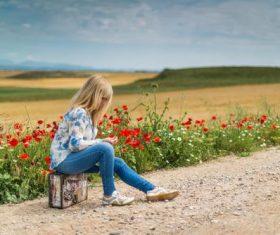 Beautiful woman wearing jeans Stock Photo 08