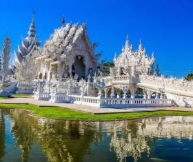Beautifully carved Buddhist architecture Stock Photo 04