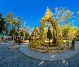 Beautifully carved Buddhist architecture Stock Photo 07