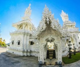 Beautifully carved Buddhist architecture Stock Photo 09
