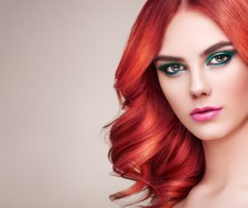 Beauty fashion model girl with colorful dyed hair Stock Photo 03