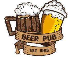 Beer label vintage design vector
