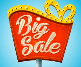 Big sale billboard design vector
