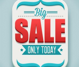 Big sale retro tag vector material 01