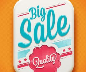 Big sale retro tag vector material 02