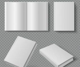 Blank book template vectors 01