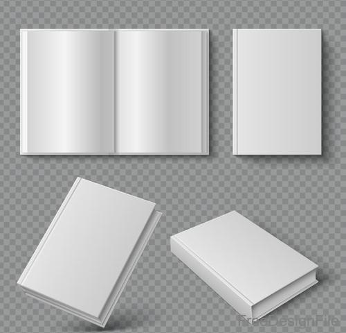 Blank book template vectors 01