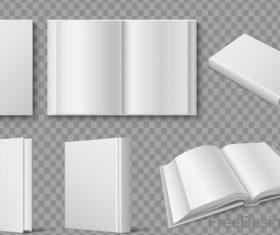 Blank book template vectors 02