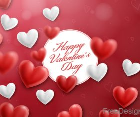 Blurs air heart with valentines day design vector 02