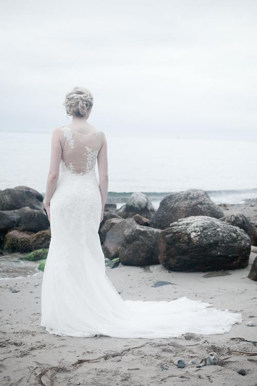 Bride wearing wedding dress Stock Photo 01