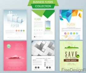 Business flyer with poster modern design vector template 01