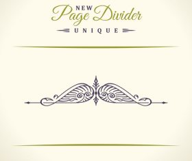 Calligraphic page divider vintage ornaments vector 03