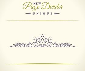 Calligraphic page divider vintage ornaments vector 04