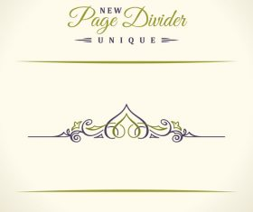 Calligraphic page divider vintage ornaments vector 05