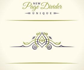 Calligraphic page divider vintage ornaments vector 07