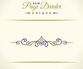 Calligraphic page divider vintage ornaments vector 09